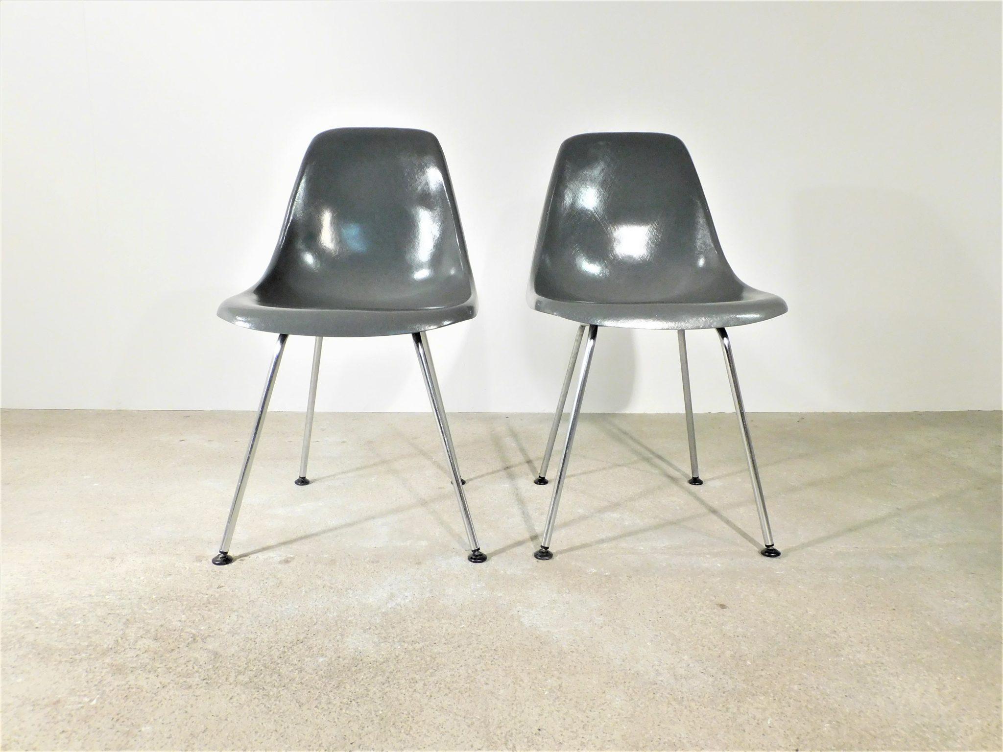 6er Set Fiberglas Stühle